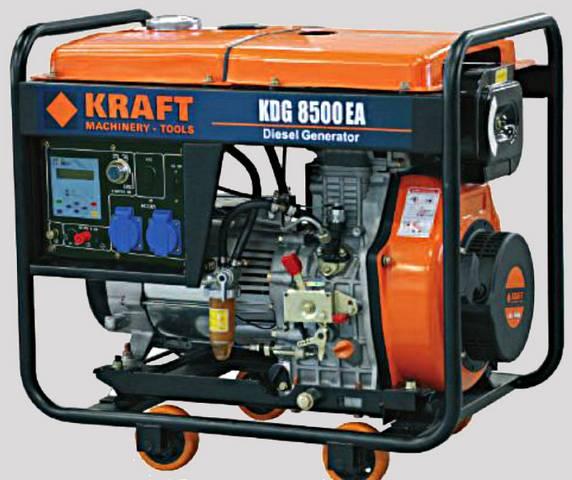 Ηλεκτρογεννήτρια πετρελαιου 6,8kva 11.5hp KRAFT