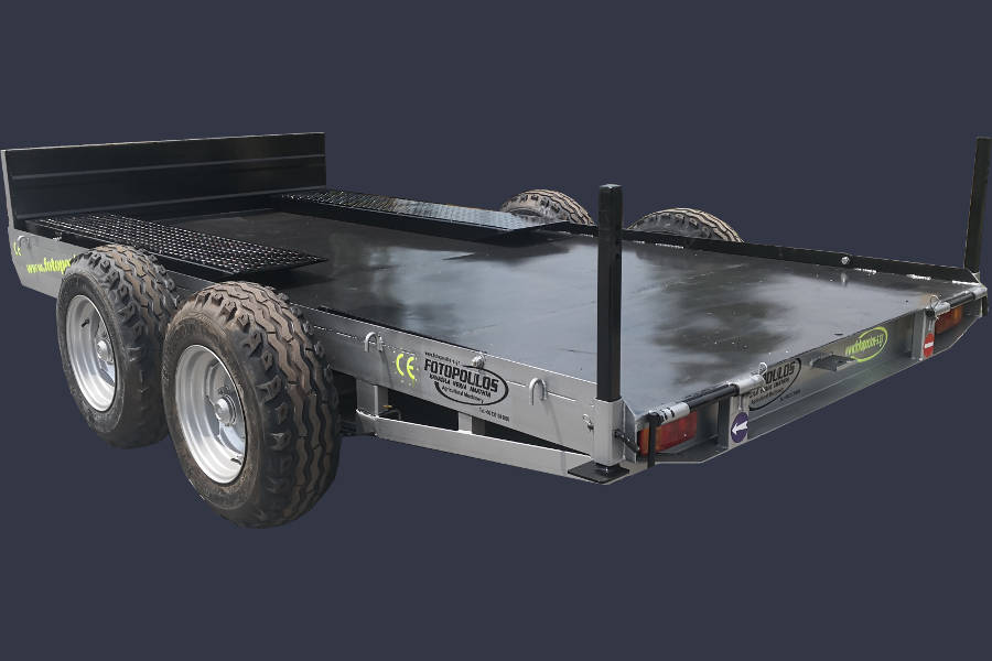 Πλατφόρμα, ρυμούλκα μεταφοράς μηχανημάτων. Τρέιλερ 6T