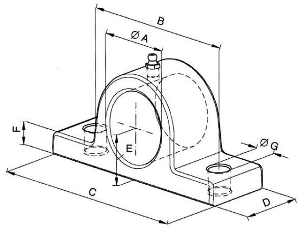 Καβαλέτο Ø40 (Ω) υδραυλικής μπουκάλας, κυλίνδρου